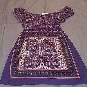 TwentyOne Mini Dress Small Cute Purple